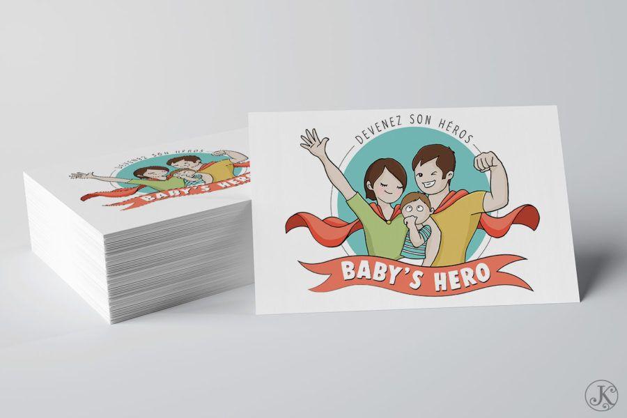 <span>Illustration, Logo</span>Baby's Hero