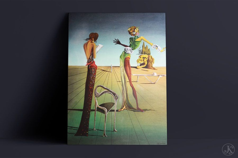 <span>Peinture</span>Femme à la tête de roses – Dali