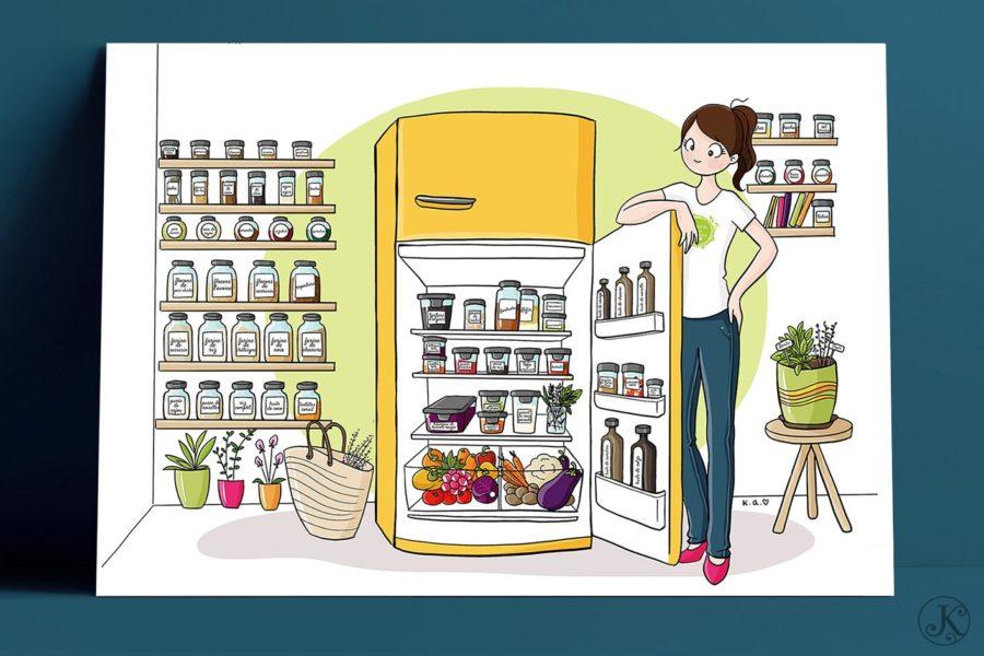 <span>Illustration</span>La cuisine Naturo