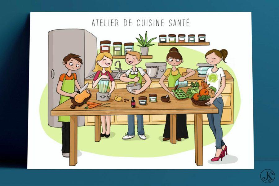 <span>Illustration</span>Ateliers santé