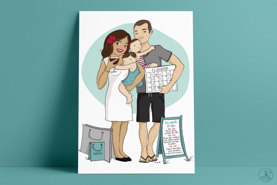 <span>Illustration</span>La p'tite famille de Nini