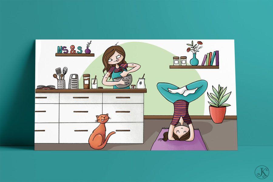<span>Illustration</span>Nutrition, Sport & Santé