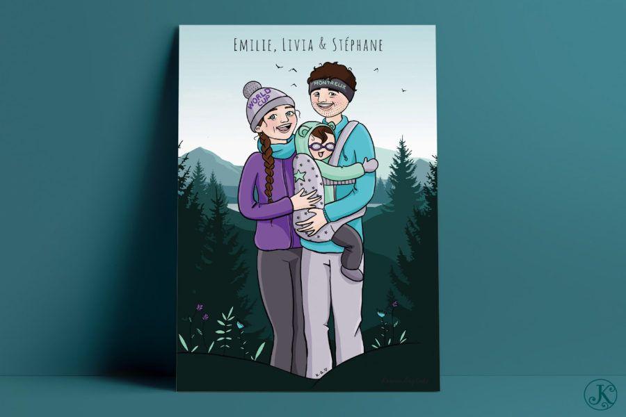 <span>Illustration</span>Émilie, Stéphane & Livia