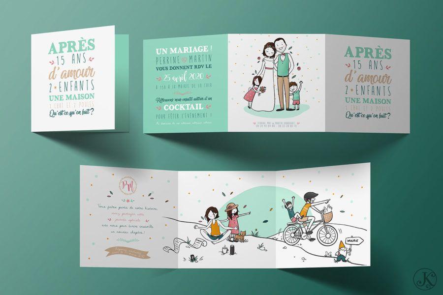 <span>Faire-part, Illustration</span>Perrine & Martin